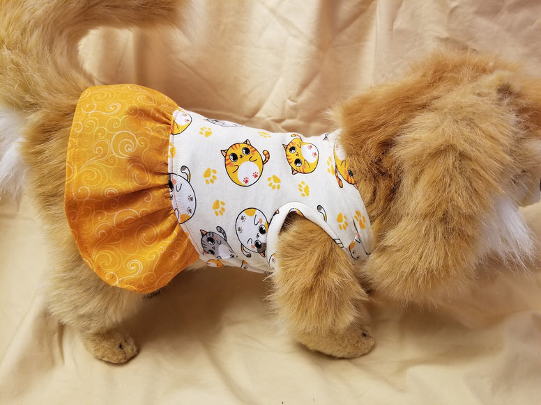 Colorful Cat Dog Dress
