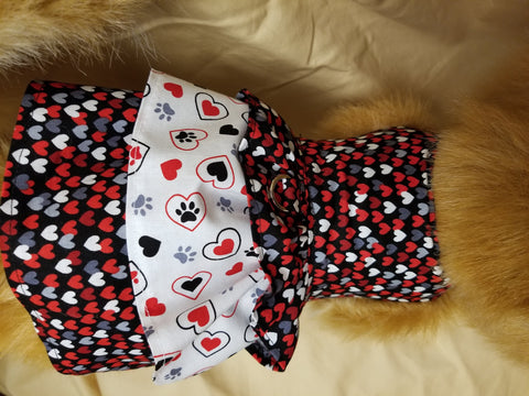 Hearts and Paws Dog Dress