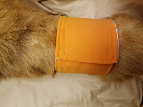 Waterproof Absorbent Belly Band for Dogs Hunter Orange