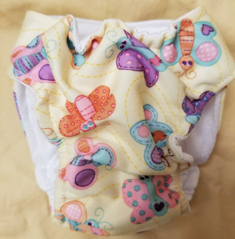 Waterproof Absorbent Dog Diaper Butterfly Print Washable Reusable