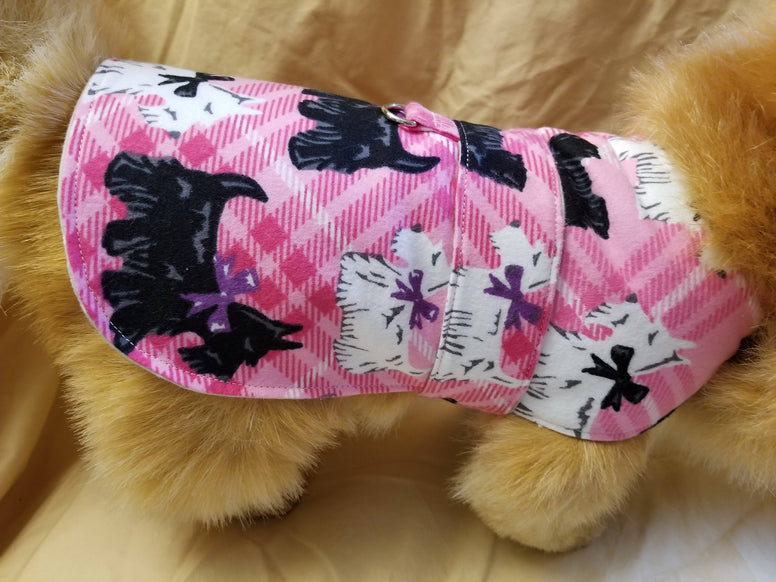 Handmade Pink Scottie Dog Coat