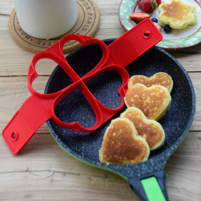 Nonstick Pancake Silicone Mold Maker Heart Shape