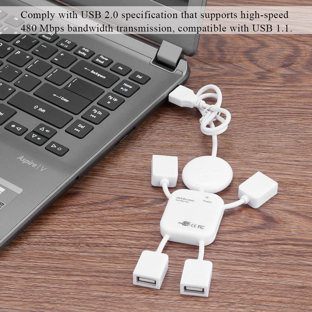 Hub Man Hi-Speed Splitter with 4-Port USB 2.0