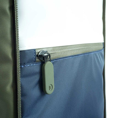 Limited Edition Olive Quiver by BOWFORBOLD, gym, sports and day bag midnight blue shower compartment, touch sensitive phone compartment with toiletries inside