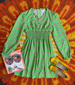Hazy Dayz Zigzag Child Dress