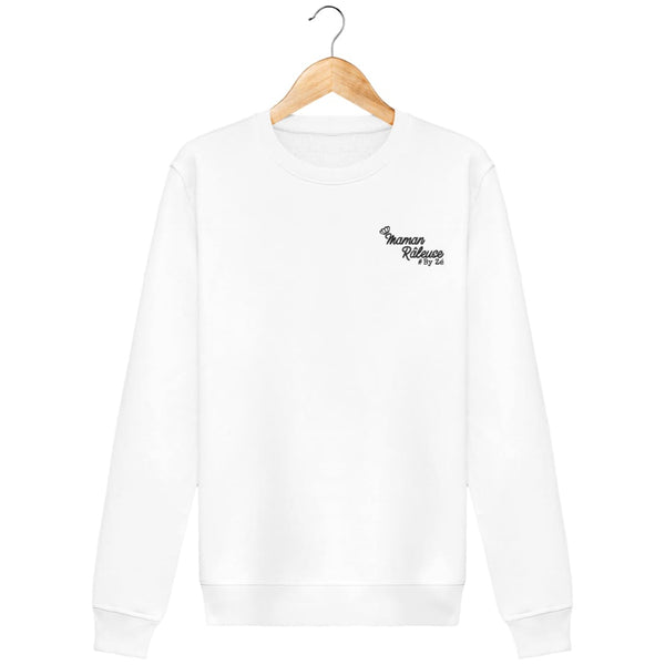 Sweat Brodé Maman Râleuse - Broderie Noire Zé Connect Shirt France