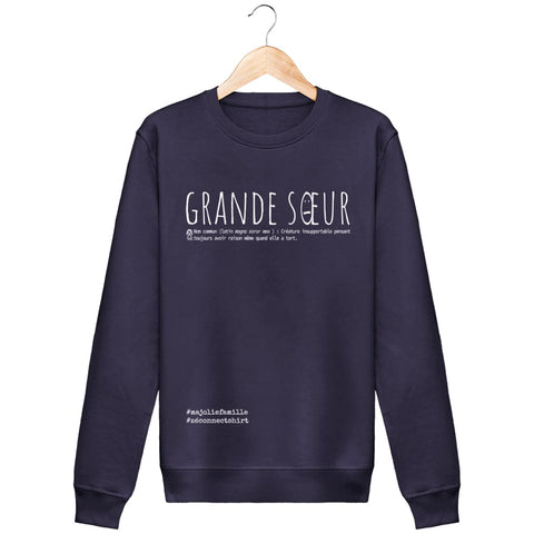 Sweat Grande Sur (Définition) - Imprimé Blanc - Zé Connect Shirt France
