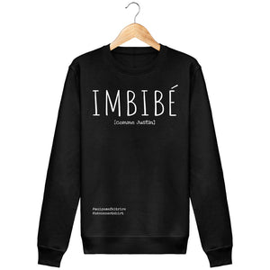 Sweat Imbibé (Comme Justin) - Imprimé Blanc - Zé Connect Shirt France