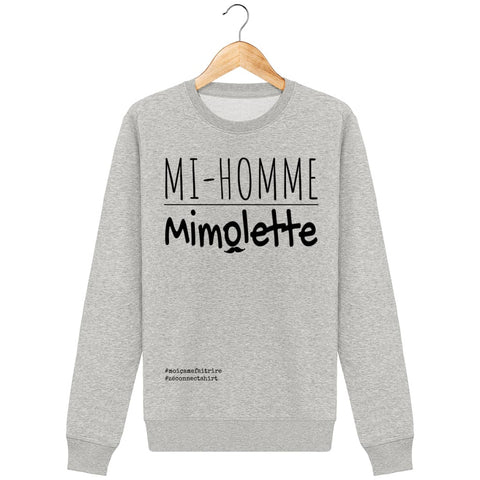 Sweat Mi-Homme Mimolette - Imprimé Noir - Zé Connect Shirt France