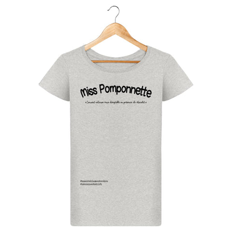 T-Shirt Femme Miss Pomponnette - Imprimé Noir - Zé Connect Shirt France