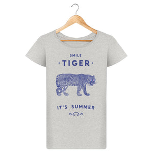T-Shirt Femme Smile Tiger By Florent Bodart Zé Connect Shirt France
