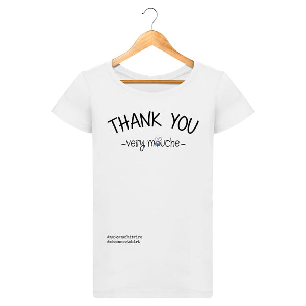 T-Shirt Femme Thank You Very Mouche - Imprimé Noir - Zé Connect Shirt France