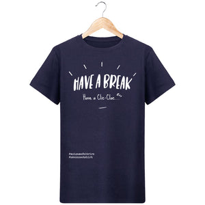 T-Shirt Homme Have A Break Have A Clic-Clac - Imprimé Blanc - Zé Connect Shirt France
