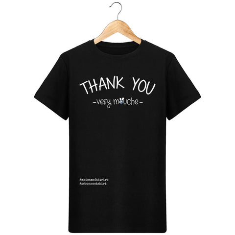 T-Shirt Homme Thank You Very Mouche - Imprimé Blanc - Zé Connect Shirt France