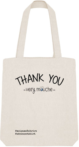 Tote Bag Thank You Very Mouche - Imprimé Noir - Zé Connect Shirt France
