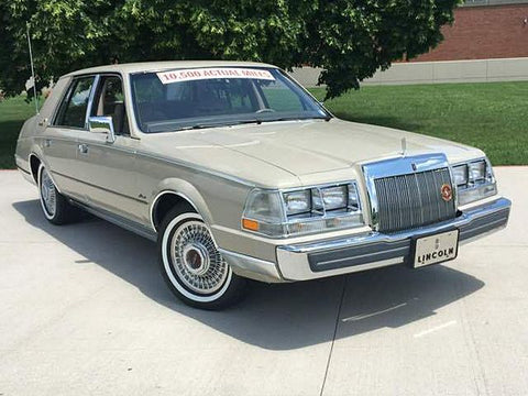 1987 Lincoln Continental Workshop Service Repair Manual