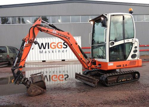 2006 TEREX SCHAEFF HR2.0 Mini Crawler Excavator Parts Manual SN0100