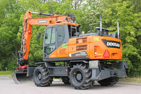 2015 Doosan DX170W-5 Wheeled Excavator Workshop Service Repair Manual