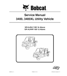 BOBCAT 3400, 3400XL UTILITY VEHICLE SERVICE REPAIR MANUAL