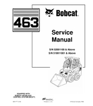 BOBCAT 463 SKID STEER LOADER SERVICE REPAIR MANUAL