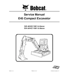 BOBCAT E45 COMPACT EXCAVATOR SERVICE REPAIR MANUAL
