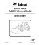 BOBCAT TL360 X TELESCOPIC HANDLER SERVICE REPAIR MANUAL