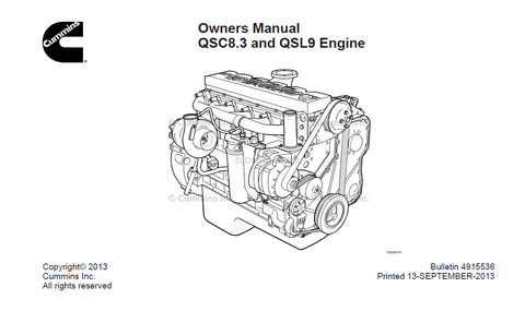 CUMMINS QSC8.3 & QSL9(Tier2) Engine Operation & Maintenance Manual