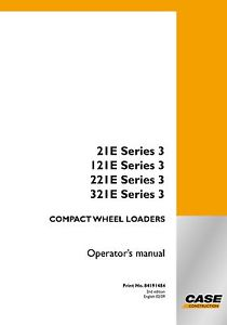 Case 21E 121E 221E 321E Series 3 Wheel Loader Service Manual Download
