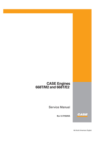 Case 668TM2 668TE2 Engine Service Repair Manual Download