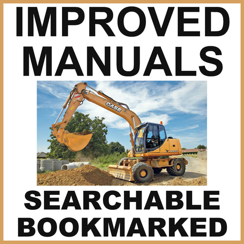 Case WX145, WX165 and WX185 Excavator Service Repair Manual & Operators Manual - IMPROVED - DOWNLOAD