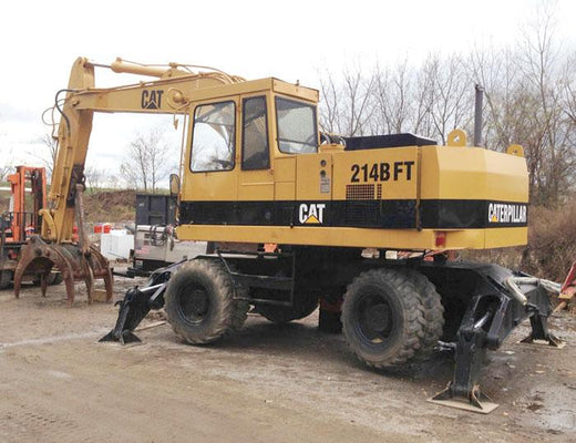 Caterpillar 214B 214BFT Wheel Type Excavator Service Repair Manual SN: 9MF 4CF Workshop Service Repair Manual