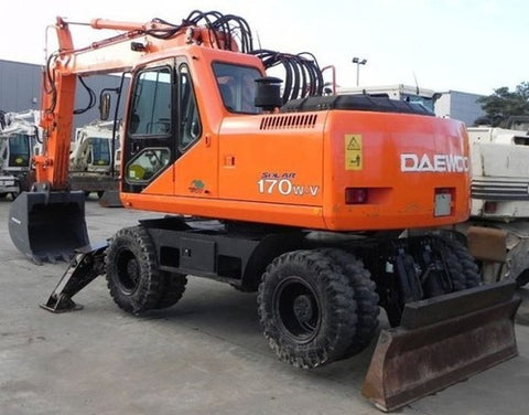 Daewoo Doosan SOLAR 170W-V Wheel Excavator Operation and Maintenance Manual