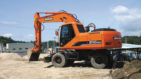 Daewoo Doosan Solar 210W-V Wheel Excavator Shop Service Repair Manual