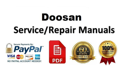 Doosan S200W-V Wheel Excavator Electrical Schematic Diagram Manual