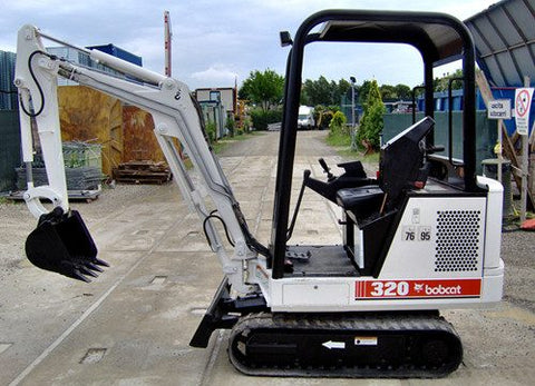 Download Bobcat 320, 320L Mini Excavator Workshop Service Repair Manual