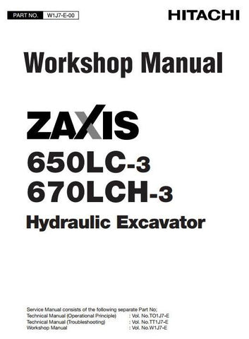 Download Hitachi Zaxis 650LC-3, 670LCH-3 Hydraulic Excavator Full Complete Workshop Service Repair Technical Manual
