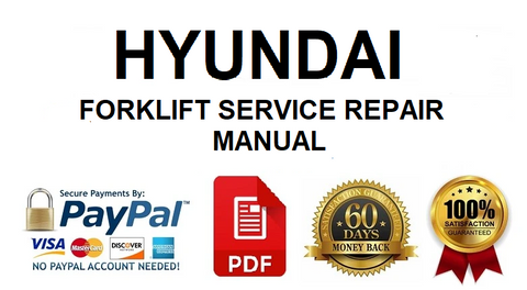 Hyundai 20/25/30L(C)-7 Forklift Truck Workshop Service Repair Manual