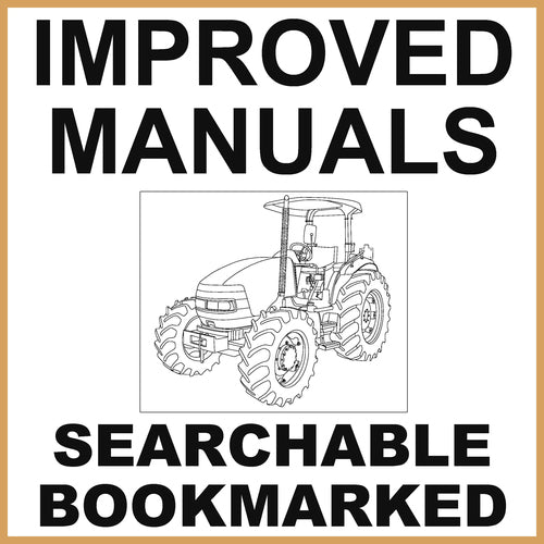 IH Case JX95 Tractor Factory Service Manual & Operators Manual - IMPROVED - DOWNLOAD