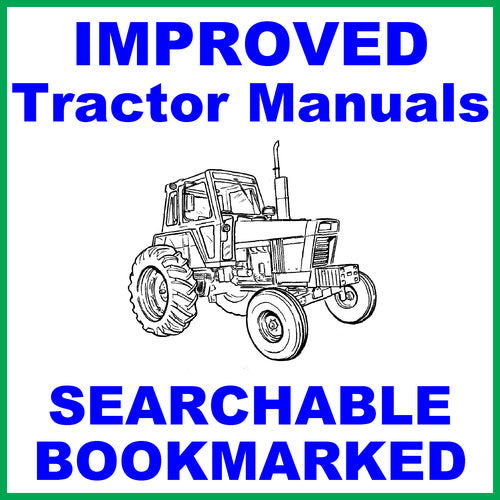 IH International Case 584 Tractor Repair Service Manual & Factory Tractor Operators Manual