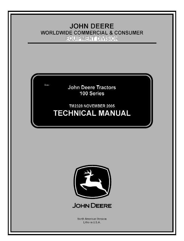 John Deere 100 Series Tractor Service Technical Manual Download