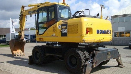 KOMATSU PW160-7K Hydraulic Excavator Service Repair Shop Manual