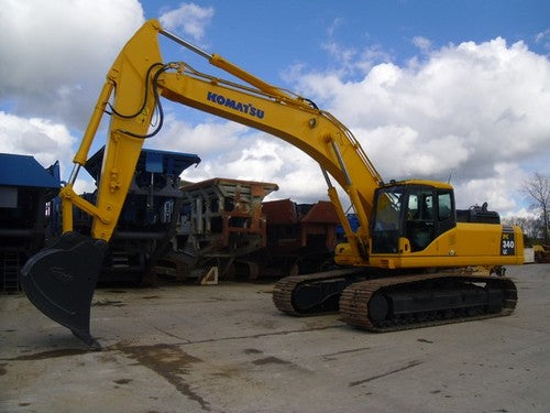 Download Komatsu PC340LC-7(GBR)-K CRAWLER EXCAVATOR Operation and Maintenance Manual SN K40001-UP