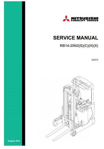 Mitsubishi RB14N2(S,HS), RB16N2(C,H,S,HS), RB20N2(H,X), RB25N2X Reach Truck Workshop Service Repair Manual