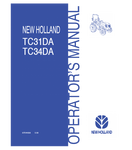 NEW HOLLAND TC31DA, TC34DA TRACTOR OPERATOR'S MANUAL