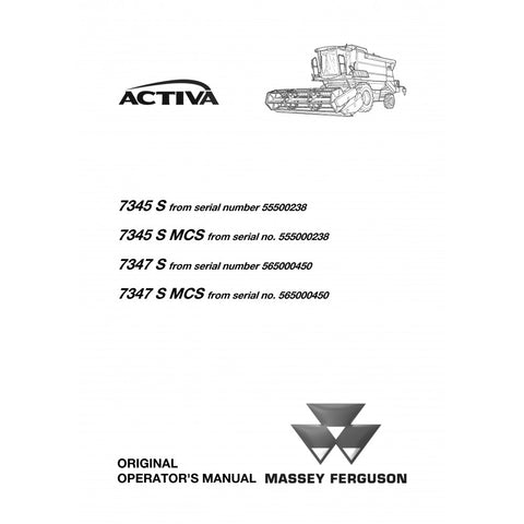 Manual for Massey Ferguson – Heavy Equipment Manual