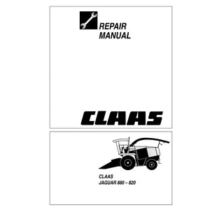 Claas JAGUAR 880-820 Forage Harvester Service Repair Manual