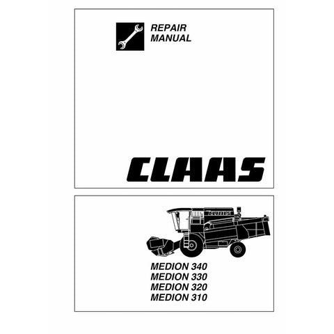 Claas Medion 310 - 340 Combine Harvester Service Repair Manual
