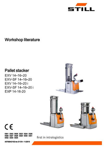 Still EXV 14-16-20 (i), EXV-SF 14-16-20 (i), EXP 14-16-20 Pallet Stacker Workshop Service Repair Manual