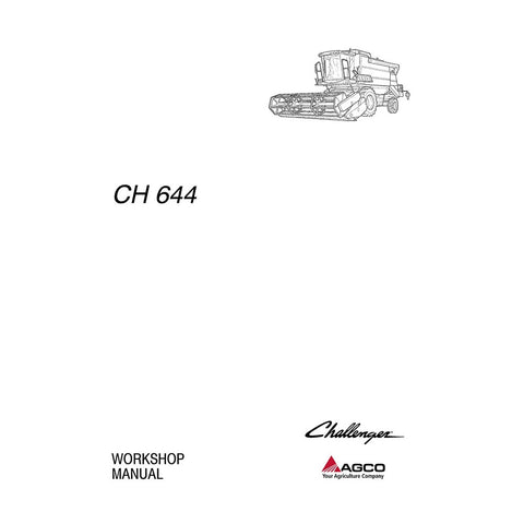Challenger 650, 654, 658 Combine Harvester Workshop Service Repair Manual