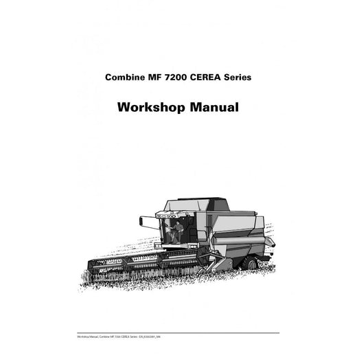 Massey Ferguson MF 7200 Series Combine Harvester Workshop Service Repair Manual